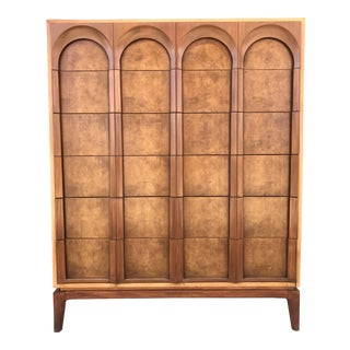Sculpted Mid Century Highboy by Thomasville