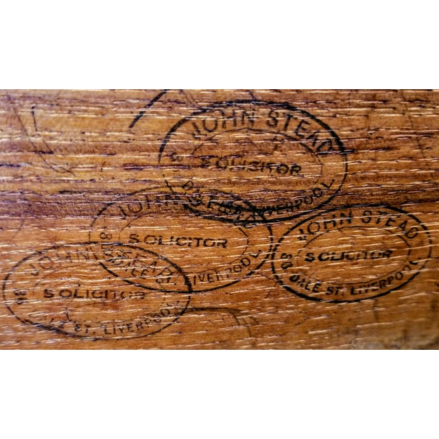 C. 1760 English Georgian Mahogany Kneehole Pedestal Desk / Library Table For Sale - Image 10 of 12