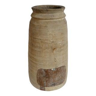 Vintage Old India Lassi Wood Pot For Sale