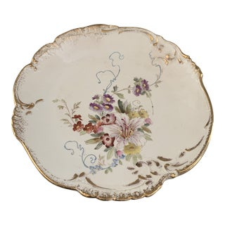 Vintage Bonn Germany Floral Plate For Sale
