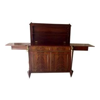 Antique 19th Century Empire Mahogany Metamorphic Bar/Sideboard For Sale
