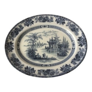 Blue & White Chinoiserie Platter