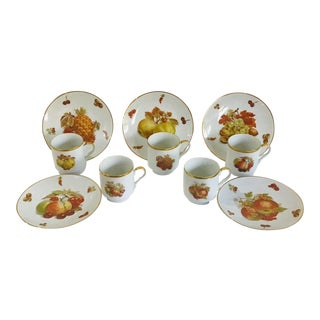 1950s Bavaria Schumann Vintage Coffee Cups and Dessert Plates - Set of 10 For Sale