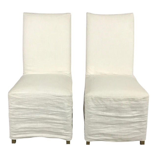 Slipcover Dining Chairs - A Pair - Image 1 of 7