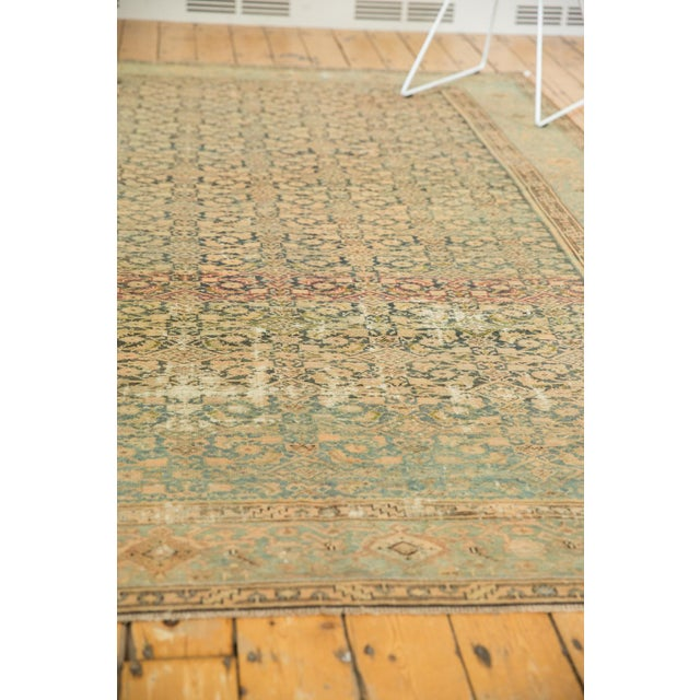 "Vintage Distressed Malayer Carpet - 7' X 10'2"" For Sale In New York - Image 6 of 13"