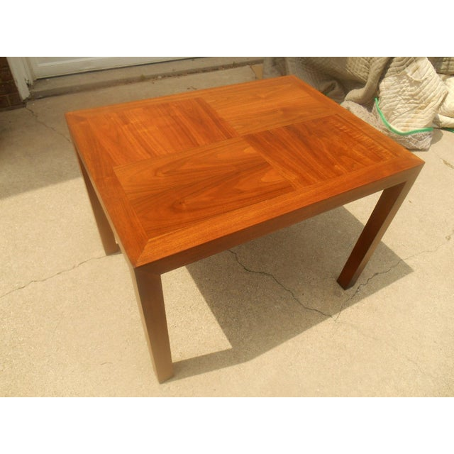 Lane Mid-Century Parquet Side Table For Sale - Image 5 of 6