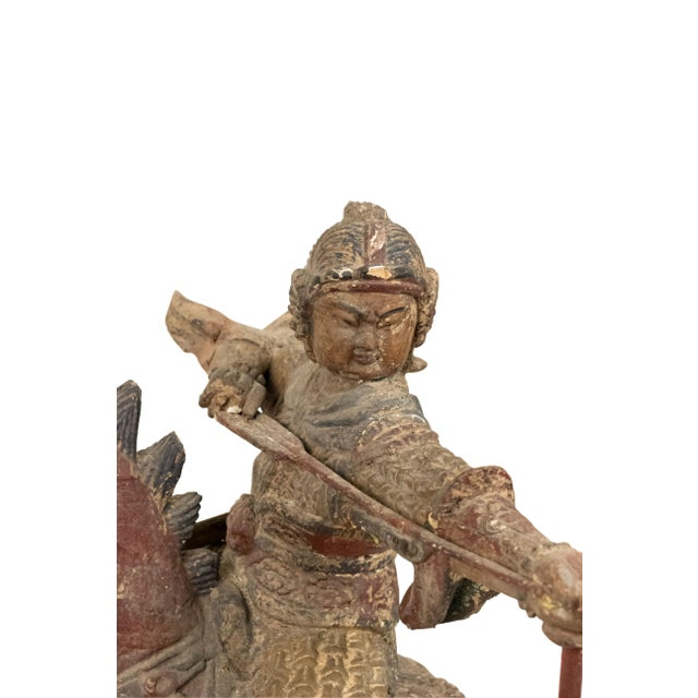 Early 20th Century Sculpture of a Mongolian Warrior on Horse For Sale - Image 5 of 8
