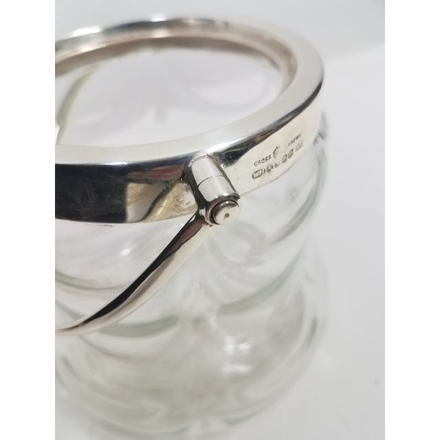 Antique English Crystal Glass Silverplate Biscuit Jar For Sale In Dallas - Image 6 of 7