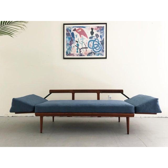 Wood Mid Century Modern Peter Hvidt & Orla Mølgaard Nielsen Teak & Cane Sofa Set- 2 Pieces For Sale - Image 7 of 10