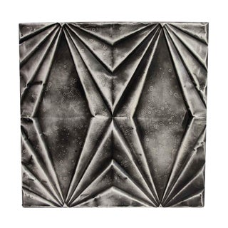 Art Deco Handmade Black Tin Panel For Sale