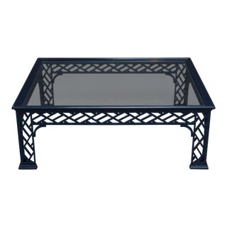 Chinese Chippendale Lacquered Coffee Table
