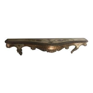 Venetian Carved Golden Shelf For Sale