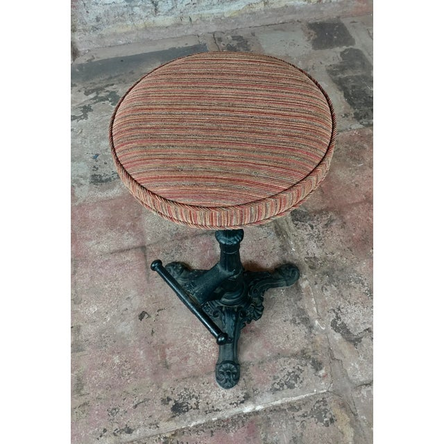 Louis XVI Victorian Cast Iron Bar Stools - a Pair For Sale - Image 3 of 9