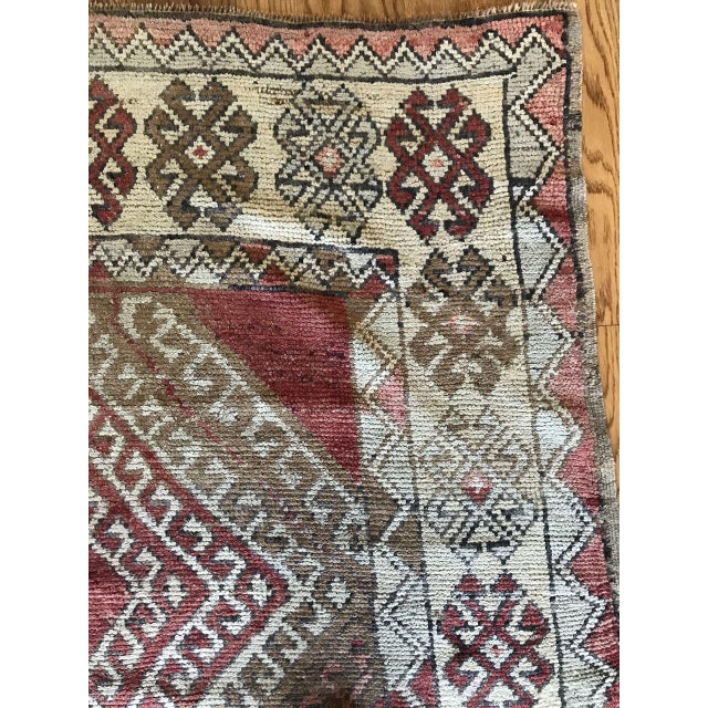 Bellwether Rugs Oushak Red & Earth Tone Patina Rug - 4′1″ × 7′5″ For Sale - Image 5 of 7