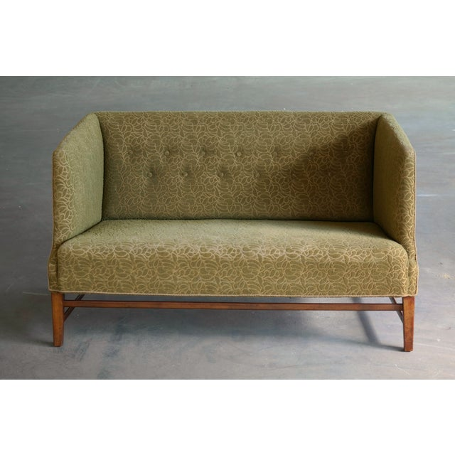Great and rare Danish Settee from, circa 1938 attributed to Master Carpenter, Georg Kofoed of Copenhagen and similar in...