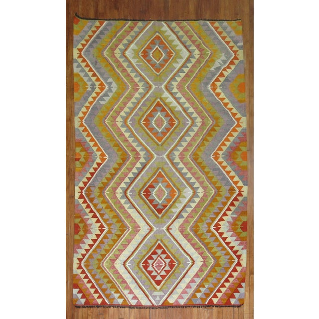 Vintage Turkish Kilim - 6′4″ × 10′5″ - Image 2 of 6
