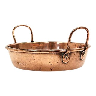 Antique French Copper Wash Basin For Sale