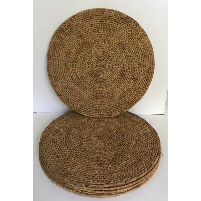 Boho Chic 1960s Boho Chic Woven Placemats - Set of 5 For Sale - Image 3 of 3
