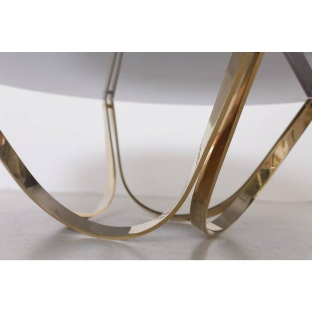 Modern Brass and Smoked Glass Coffee Table by Tri-Mark, circa, 1971 For Sale - Image 3 of 8