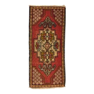 Bohemian Vintage Turkish Rug - 1′6″ × 3′3″