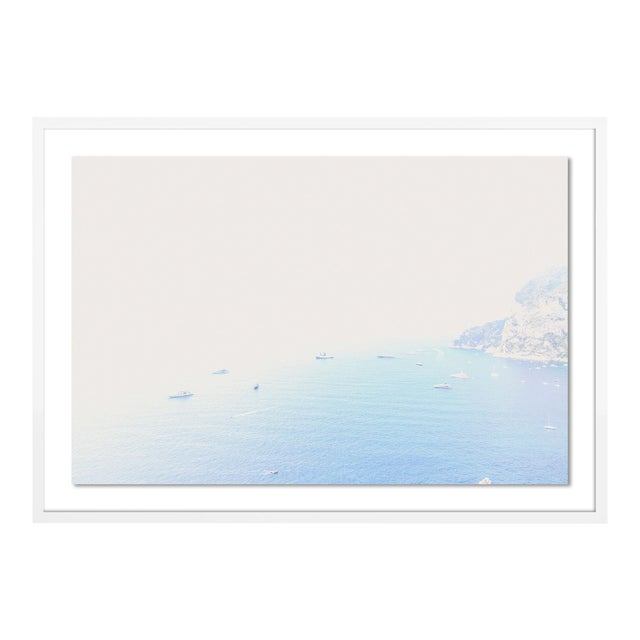 Capri from Above by Natalie Obradovich in White Framed Paper, Large Art Print For Sale