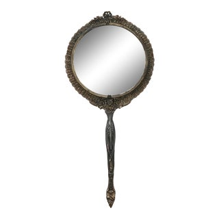 1940s Antique Handheld Mirror For Sale
