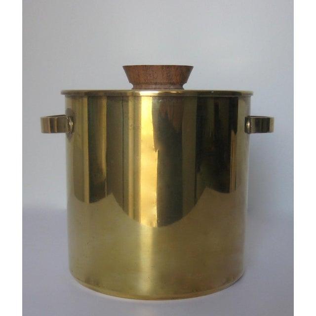 Mid-Century Italian Brass & Teak Ice Bucket - Image 2 of 13