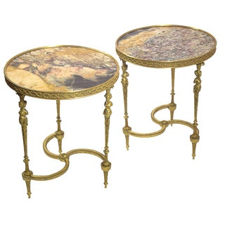 20th Century French Ormolu Gueridons - a Pair For Sale