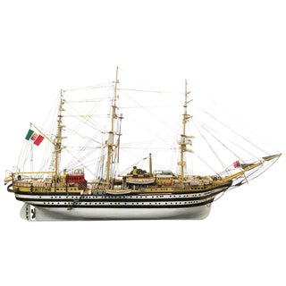Amerigo Vespucci Wooden Model Ship For Sale