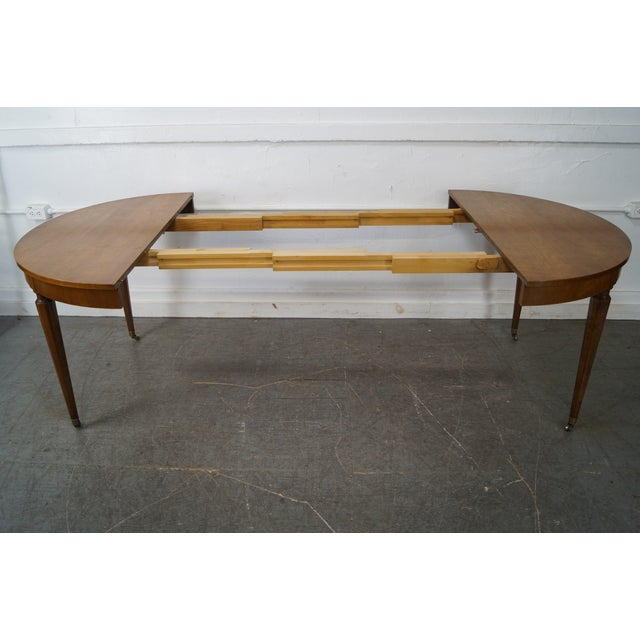 Kindel Vintage Regency Directoire Style Round Extension Dining Table - Image 3 of 10
