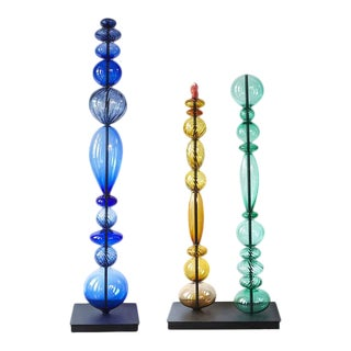 Abacus Towers Sculpture - a Set of 3 For Sale