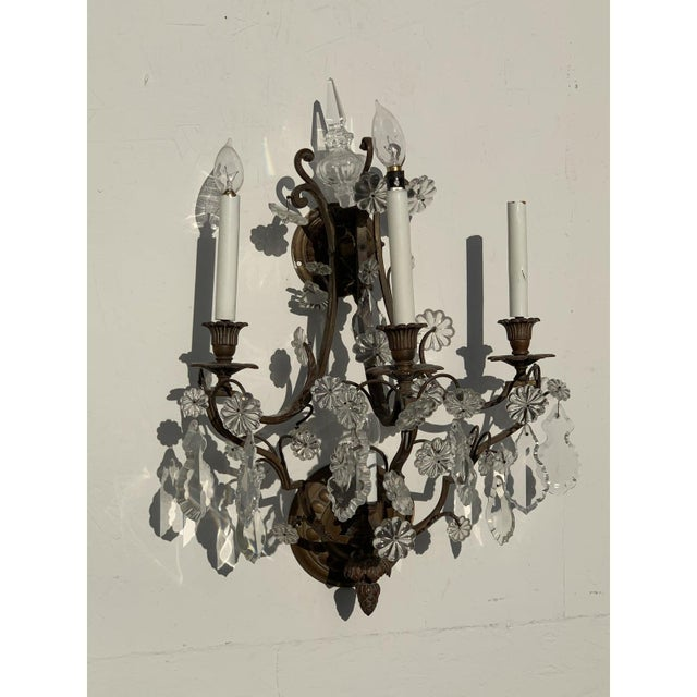 Vintage French Louis XVI Style Sconces - a Pair For Sale In San Diego - Image 6 of 10