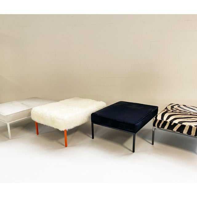 Not Yet Made - Made To Order The Forsyth Ottoman in Sheepskin For Sale - Image 5 of 10