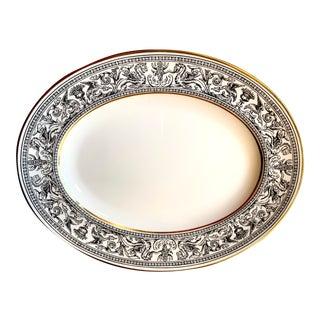 Florentine Black Dragons Wedgwood Oval Serving Platter For Sale