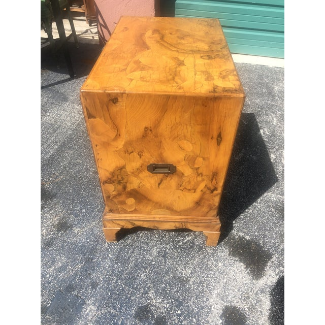 Italian Olive Burl Wood Chest of Drawers For Sale In Miami - Image 6 of 12