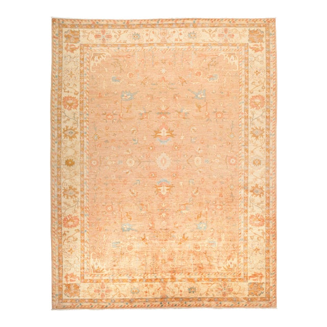 """Oushak Hand Knotted Area Rug - 9' 4"""" X 11' 9"""" - Image 1 of 4"""
