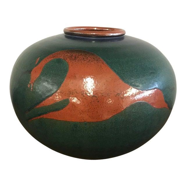 Heath Krieger Studio Pottery Contemporary Southwest Ceramic Olla Pot For Sale