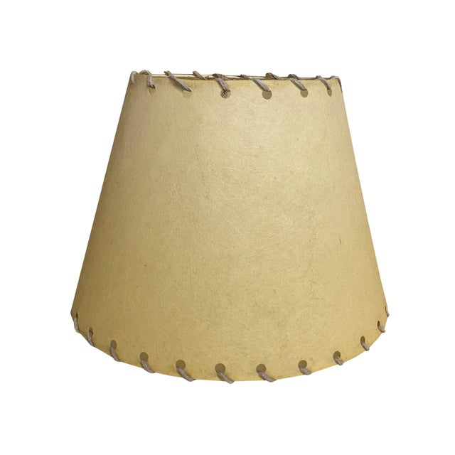 1960s Western Rawhide Lamp Shades - a Pair For Sale - Image 4 of 6