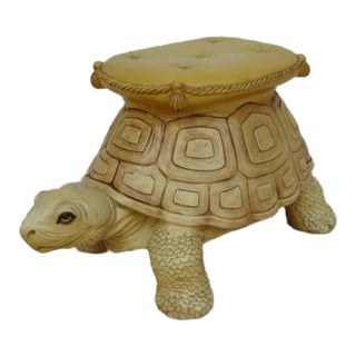 Mid-Century Turtle Form Garden Stool Bench Ottoman For Sale