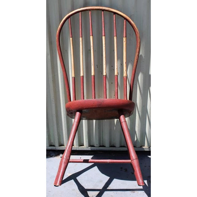 Early 19Thc Original Paint Decorated Windsor Side Chair For Sale - Image 9 of 10