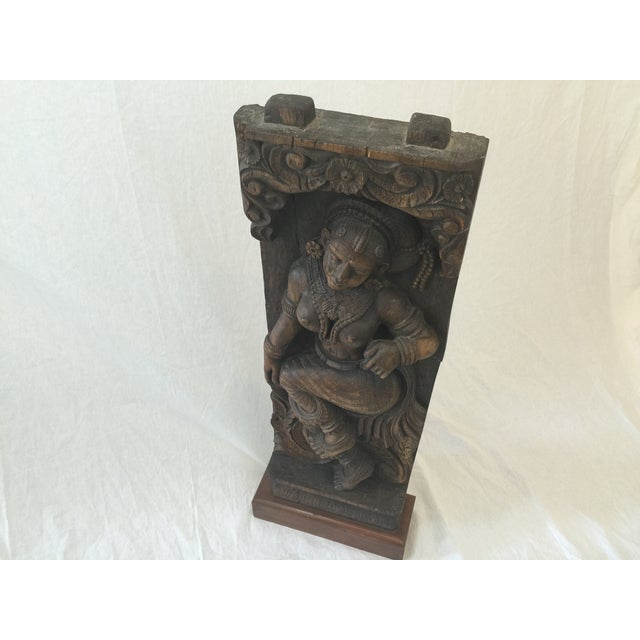 Indonesian Wood Carving on Stand - Image 6 of 11