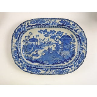1880's Chinoiserie Transferware Platter Preview