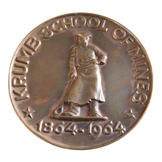 Rare Columbia University Krumbs School of Mines Centennial Medal For Sale