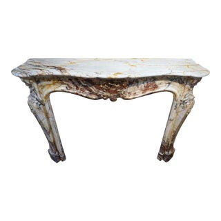 Louis XV Marble Mantel, circa 1800 For Sale