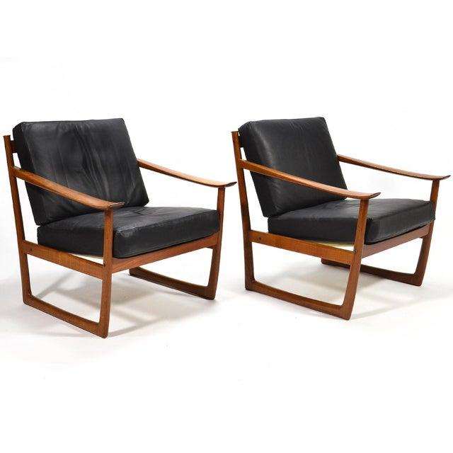 Peter Hvidt & Orla Mølgaard Nielsen Lounge Chairs by France & Son - Image 2 of 10
