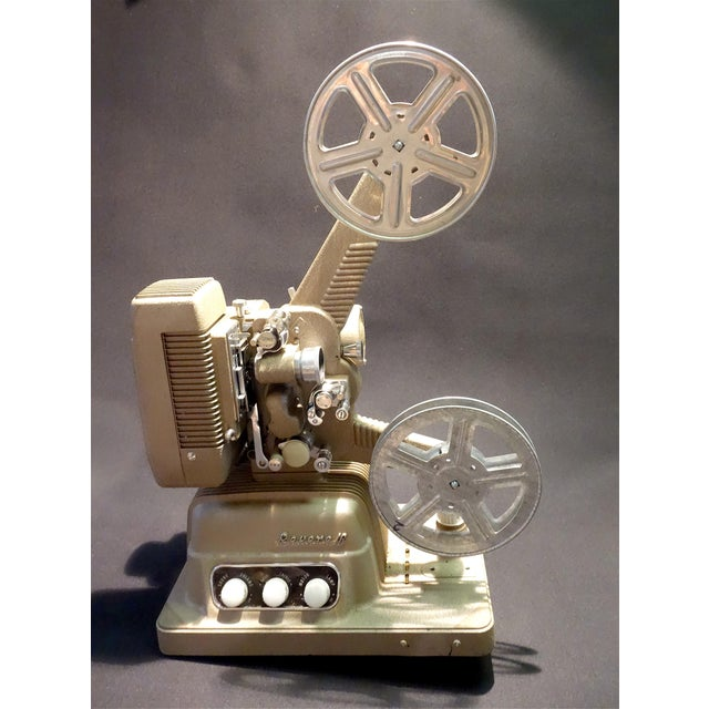 Submitted for your consideration is this mid 1950s 16mm cinema / sound projector in fine cosmetic condition. Beautiful...