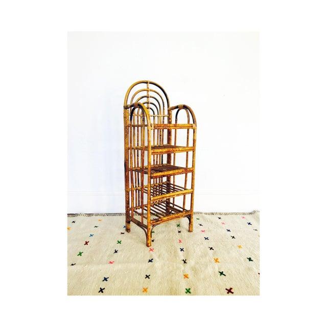 Vintage Bent Bamboo Bookshelf - Image 2 of 6