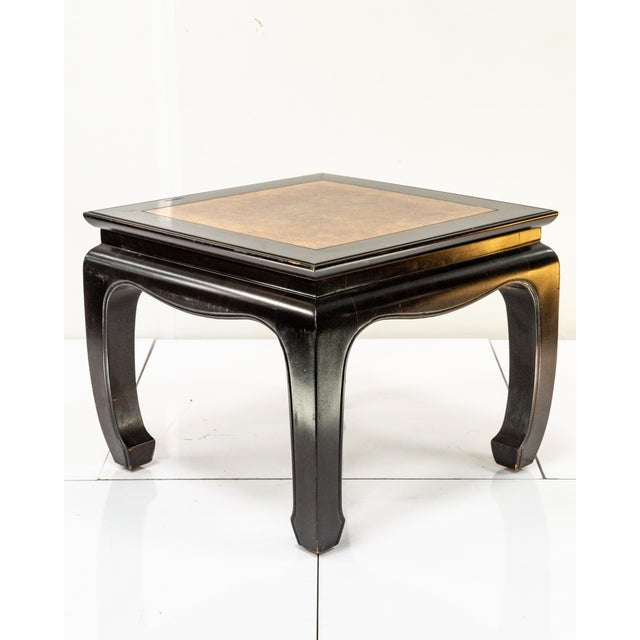 Black 1960s Vintage Chinoiserie Style Side Table For Sale - Image 8 of 8
