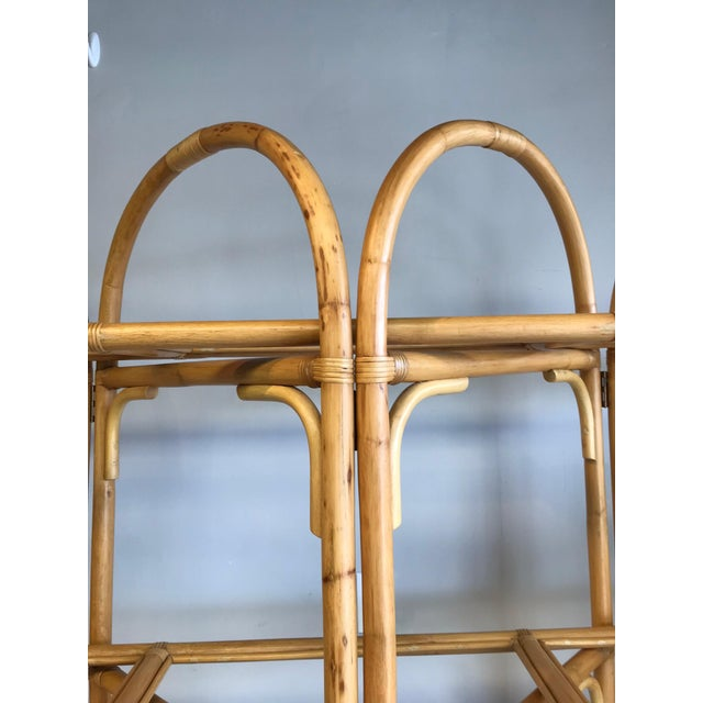 Brown Palm Beach Style Rattan Shelving Unit For Sale - Image 8 of 12