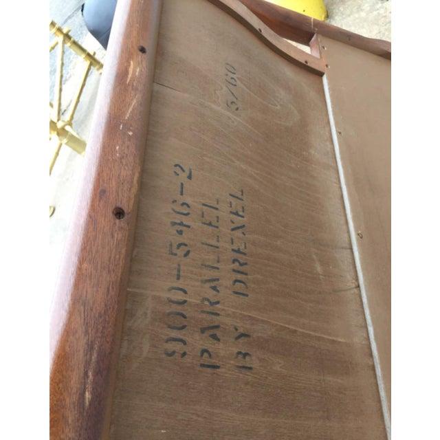 Drexel Mid-Century Walnut & Cane King Size Headboard - Image 6 of 6